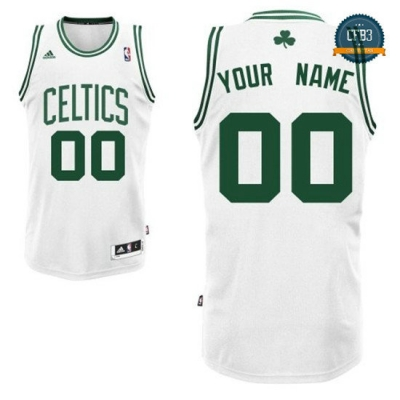 cfb3 camisetas Custom, Boston Celtics [Blanco]