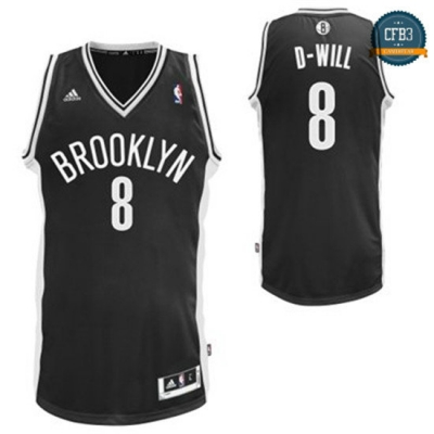 cfb3 camisetas D-Will, Brooklyn Nets - Negro