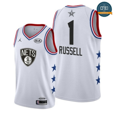 cfb3 camisetas D'Angelo Russell - 2019 All-Star Blanco