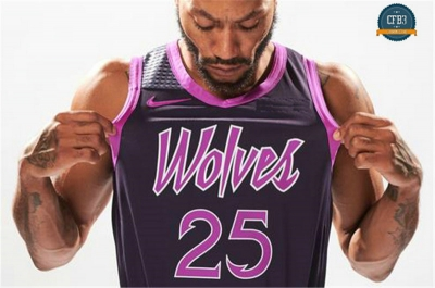 cfb3 camisetas Derrick Rose, Minnesota Timberwolves 2018/19 - City Edition
