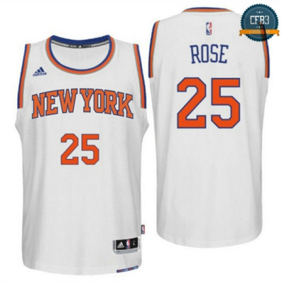 cfb3 camisetas Derrick Rose, New York Knicks [Blanco]
