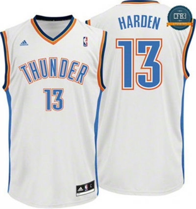 cfb3 camisetas James Harden Oklahoma City Thunder [Blanco]