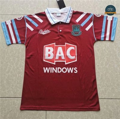 Cfb3 Camiseta Retro 1991-92 West Ham United Equipación 1ª
