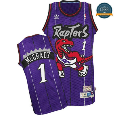 cfb3 camisetas Tracy McGrady, Toronto Raptors [Morada]