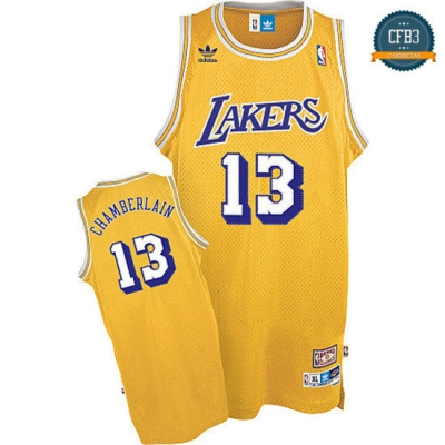 cfb3 camisetas Wilt Chamberlain, Los Angeles Lakers [Soul Swingman Dorada]