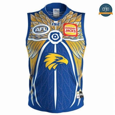 Cfb3 Camiseta Rugby AFL West Coast Eagles edición de recuerdo 2019/2020