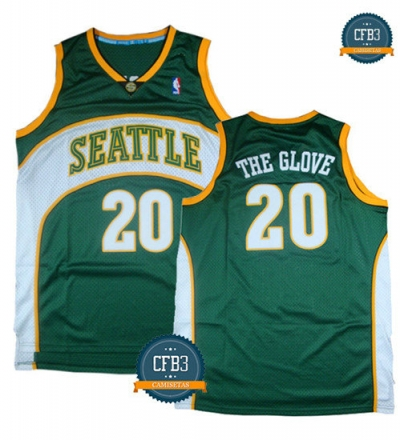 cfb3 camisetas Gary Payton 'The Glove', Seattle SuperSonics