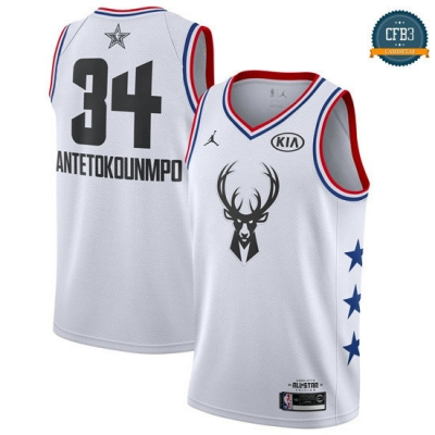 cfb3 camisetas Giannis Antetokounmpo - 2019 All-Star Blanco