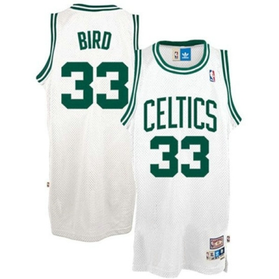 cfb3 camisetas Larry Bird Boston Celtics [Blanco]