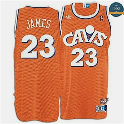 cfb3 camisetas LeBron James, Cleveland Cavaliers - Orange Hardwood Classics