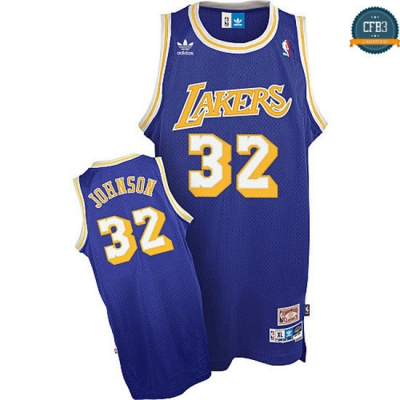 cfb3 camisetas Magic Johnson, Los Angeles Lakers [Soul Swingman Morada]