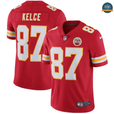 cfb3 camisetas Travis Kelce, Kansas City Chiefs - Rojo Vapor