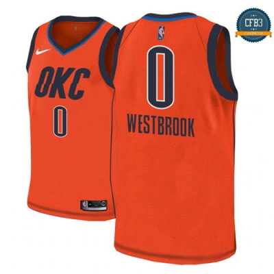 cfb3 camisetas Russell Westbrook, Oklahoma City Thunder 2018/19 - Earned Edition