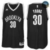 cfb3 camisetas Thaddeus Young, Brooklyn Nets - Negro