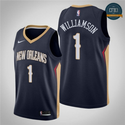 cfb3 camisetas Zion Williamson, New Orleans Pelicans 2018/19 - Icon