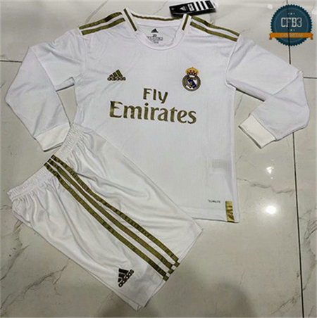 Camiseta Real Madrid Niños 1ª Manga Larga 2019/20