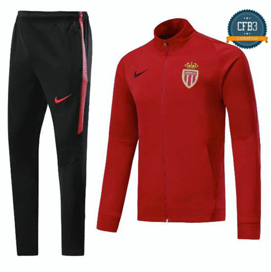 Chaqueta Chándal AS Monaco Rose 2017