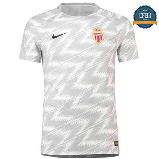 Camiseta AS Monaco Entrenamiento Pre-Match Blanco 2018/2019