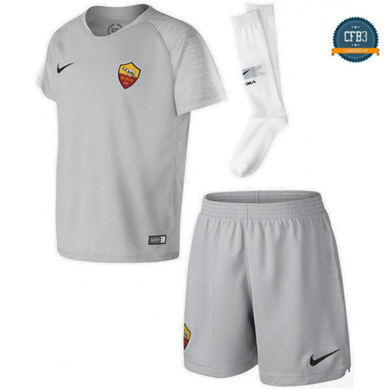 Camiseta AS Roma 2ª Equipación Junior Gris 2018
