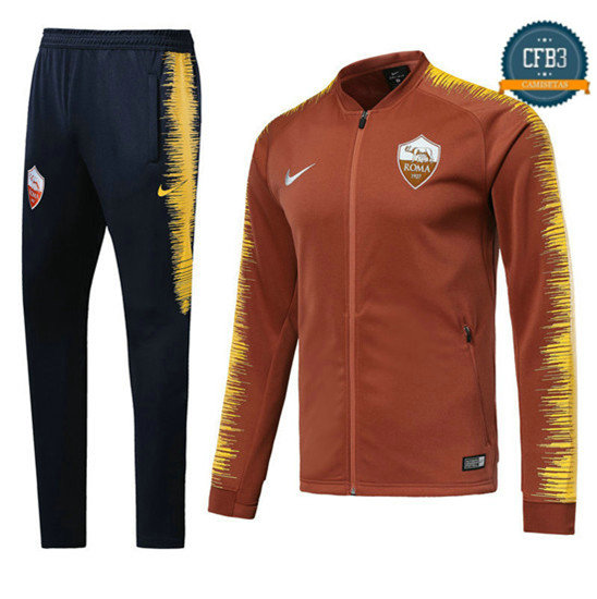 Chaqueta Chándal AS Roma Naranja 2018 Strike Drill