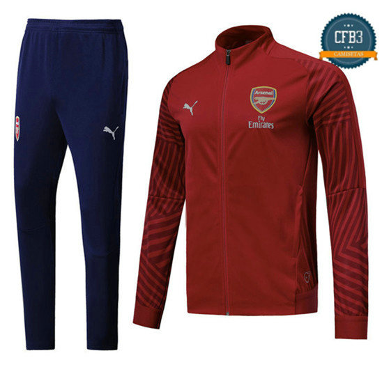 Chaqueta Chándal Arsenal Rojo 2018 Strike Drill