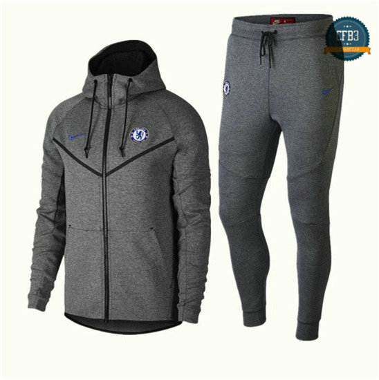 Chaqueta Chándal Chelsea Gris 2018 Tech Fleece Windrunner