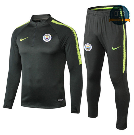 Chándal Manchester City Verde/Negro 2018