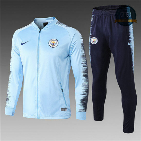 Chaqueta Chándal Manchester City Light Blue 2018