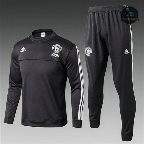 Chándal Manchester United Gris Oscuro 2017 Cuello redondo