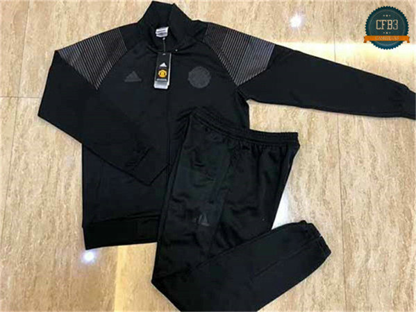 Chaqueta Chándal Manchester United Negro 2018