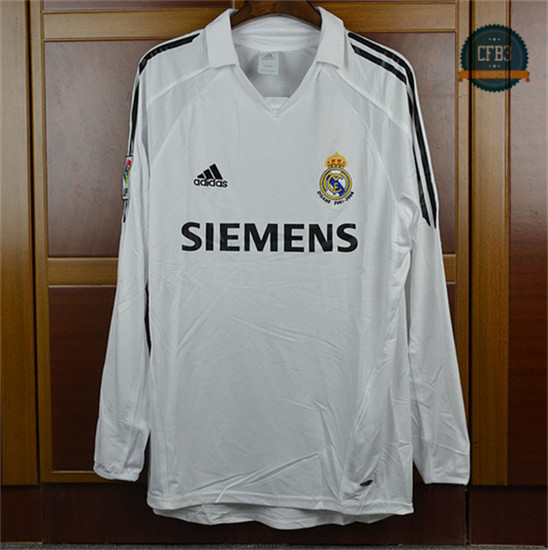 Camiseta 2005-06 Real Madrid Manga Larga 1ª Equipación
