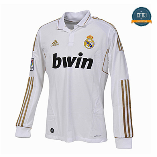 Camiseta 2011-12 Real Madrid Manga Larga 1ª Equipación