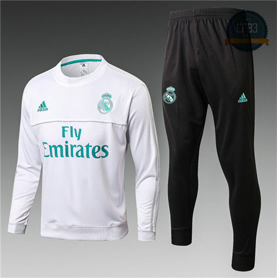 Chándal Real Madrid Blanco 2017 Cuello redondo