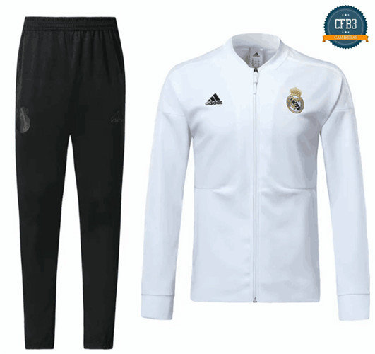Chaqueta Chándal Real Madrid Blanco 2018
