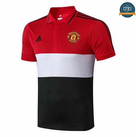 Cfb3 D225 Camiseta Manchester United POLO Rojo/Negro 2019/2020