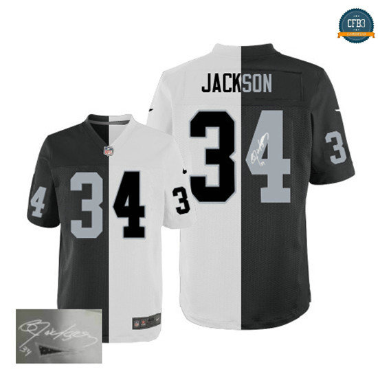 cfb3 camisetas Bo Jackson, Oakland Raiders Team/ Alternate