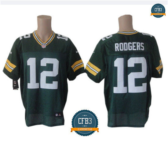 cfb3 camisetas Aaron Rodgers, Green Bay Packers