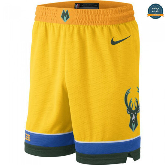 cfb3 camisetas Pantalones Milwaukee Bucks - City Edition