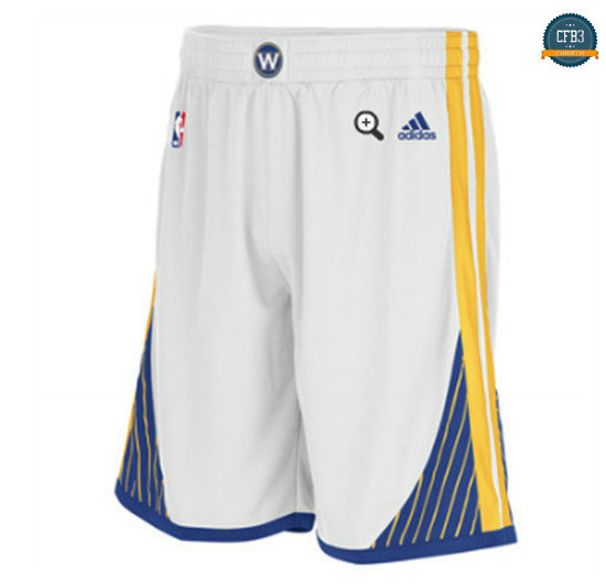 cfb3 camisetas Pantalones Golden State Warriors [Blanco]