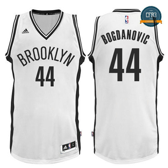 cfb3 camisetas Bojan Bogdanovic, Brooklyn Nets - Blanco