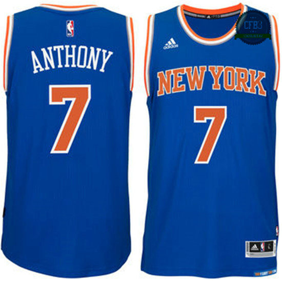 cfb3 camisetas Carmelo Anthony, New York Knicks [Azul]