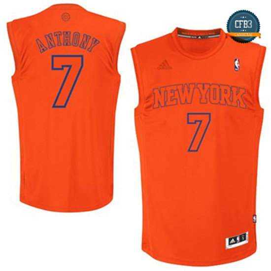 cfb3 camisetas Carmelo Anthony, New York Knicks [Naranja]