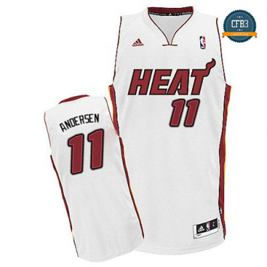 cfb3 camisetas Chris Andersen, Miami Heat [Blancoo]