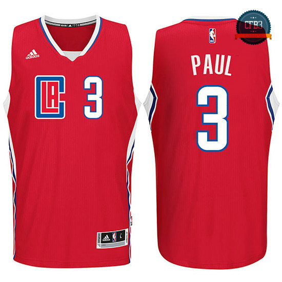 cfb3 camisetas Chris Paul, Los Angeles Clippers 2015 - Rojo