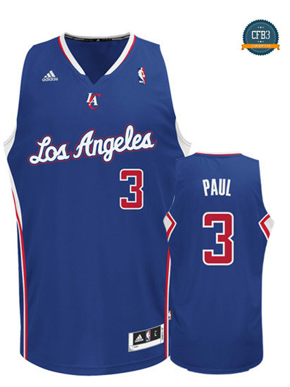 cfb3 camisetas Chris Paul, Los Angeles Clippers [Azul]