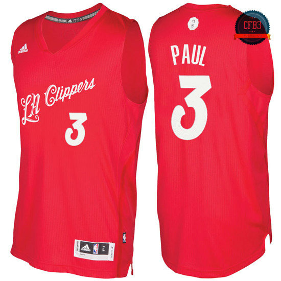 cfb3 camisetas Chris Paul, Los Angeles Clippers - Christmas '17