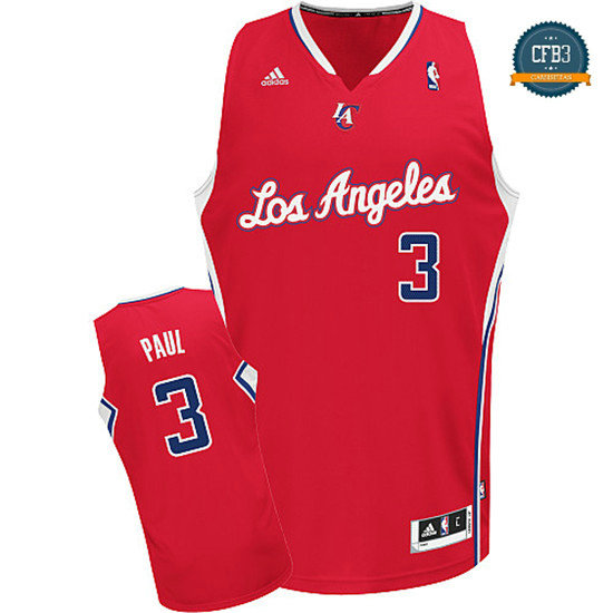cfb3 camisetas Chris Paul, Los Angeles Clippers [Roja]