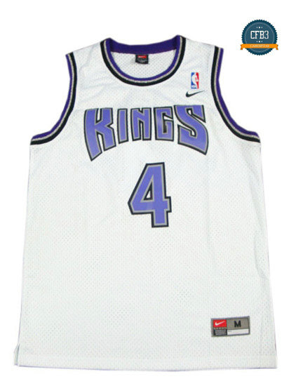 cfb3 camisetas Chris Webber, Sacramento Kings [Blanco]