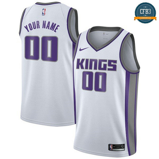 cfb3 camisetas Custom, Sacramento Kings - Association