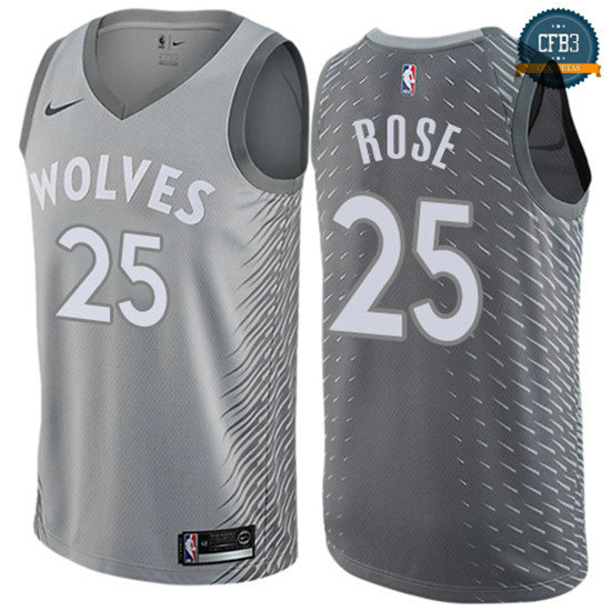 cfb3 camisetas Derrick Rose, Minnesota Timberwolves - City Edition